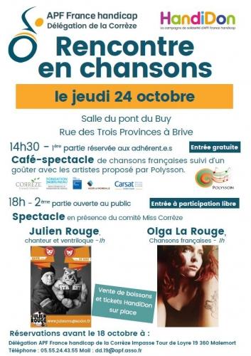 Rencontre en chansons le 24 octobre