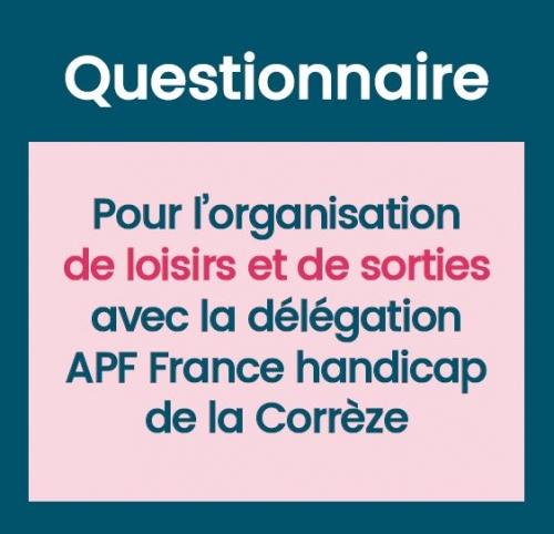 Questionnaire pour l'organisation de loisirs